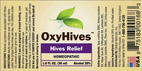 oxy hives ingredients
